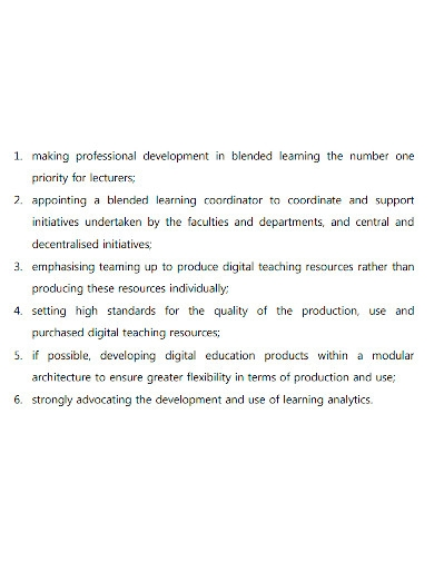blended learning action plan