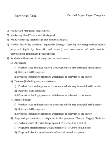 business case project report