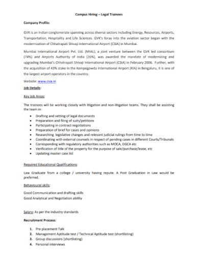 campus recruitment company profile