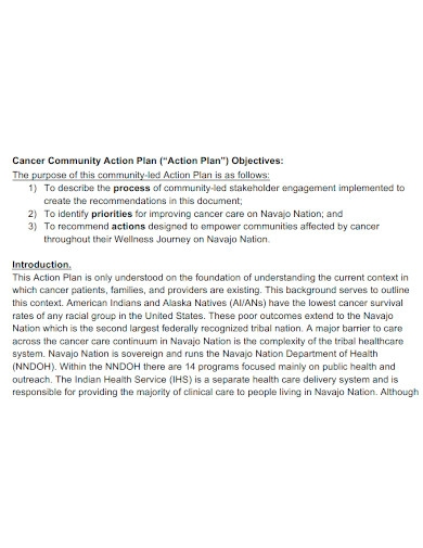 cancer community action plan