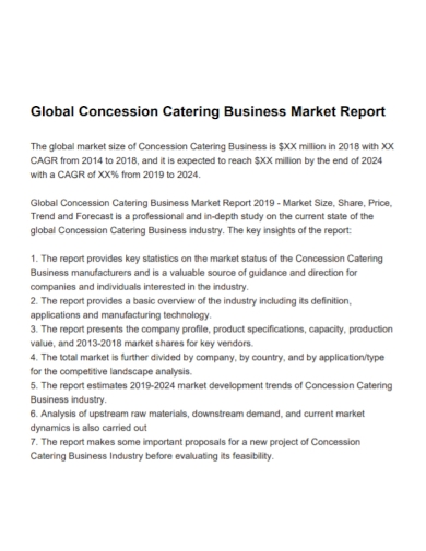 catering business market report