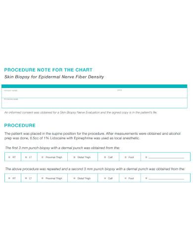 chart procedure note