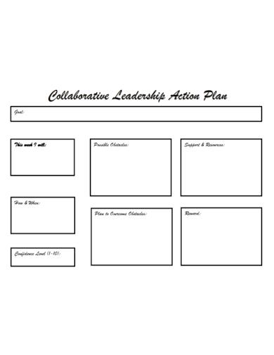 collaborative leadership action plan