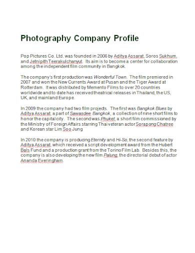 community photography company profile