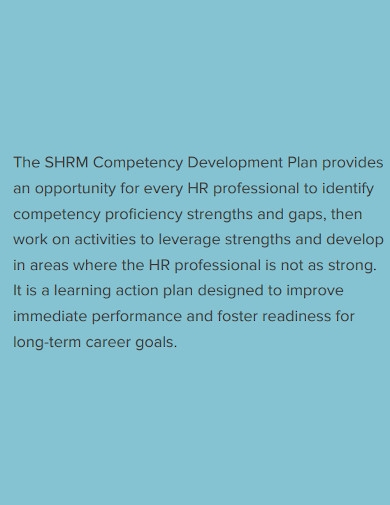 competency career development plan