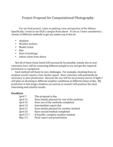 computational photography project proposal