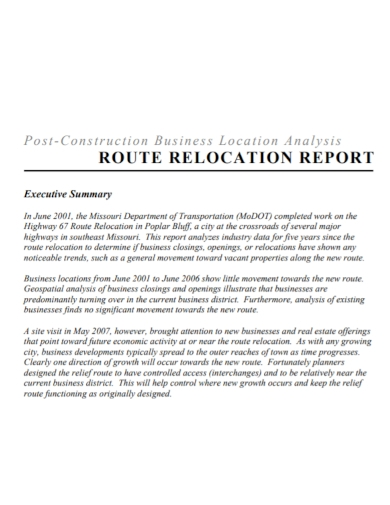 construction business relocation report