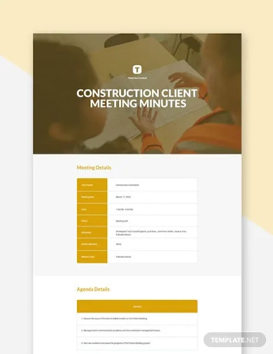 construction client meeting minutes