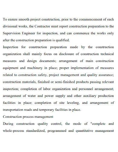construction feasibility report format