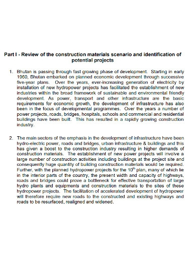 construction feasibility report