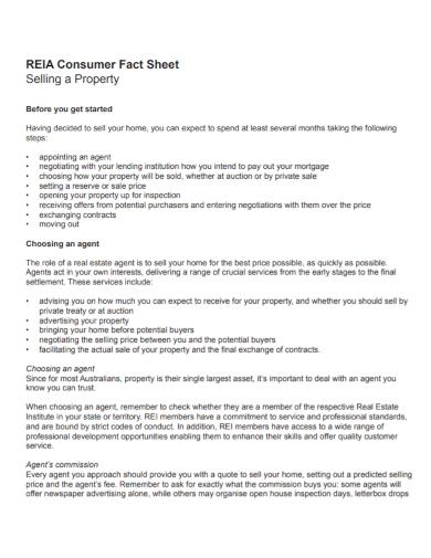 consumer property fact sheet