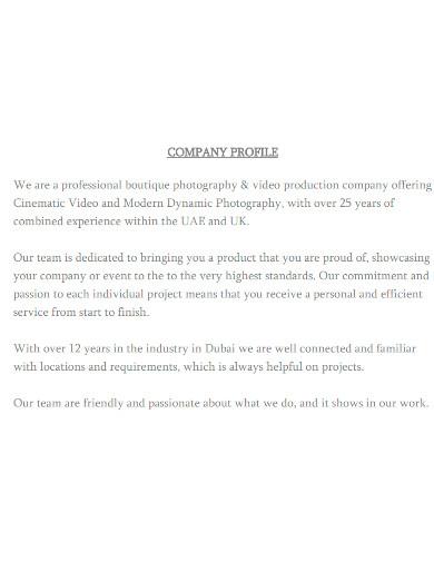creative boutique company profile