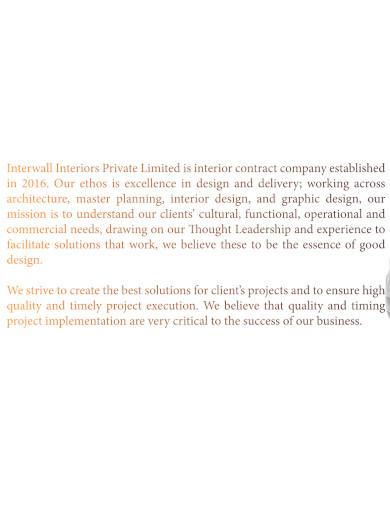 creative interior company profile
