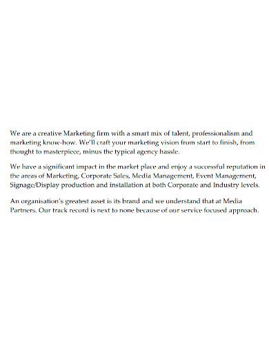 creative marketing company profile