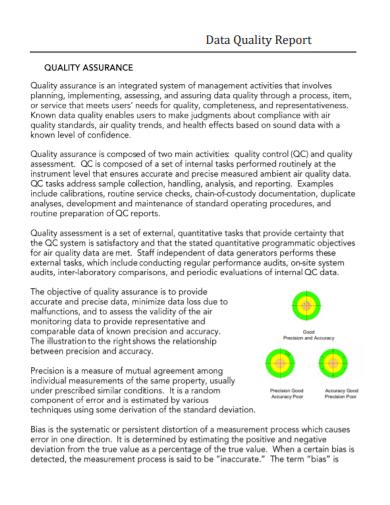 data quality assurance report