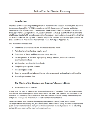disaster recovery action plan