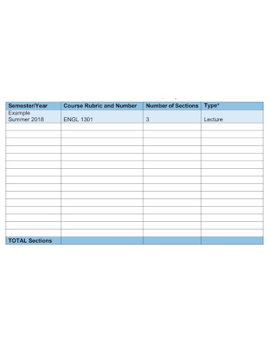 editable faculty self assessment