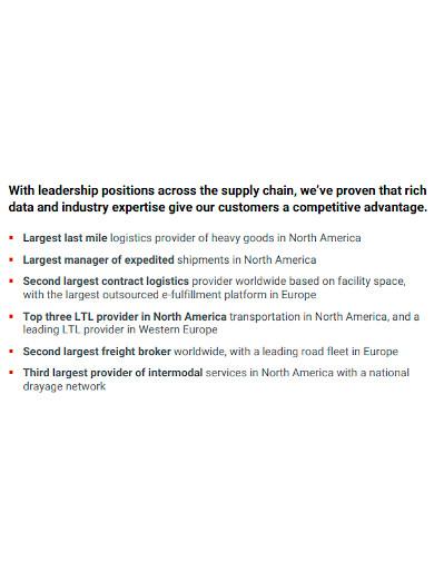 editable logistics company profile