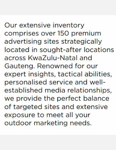 editable marketing company profile