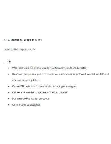 editable marketing scope of work