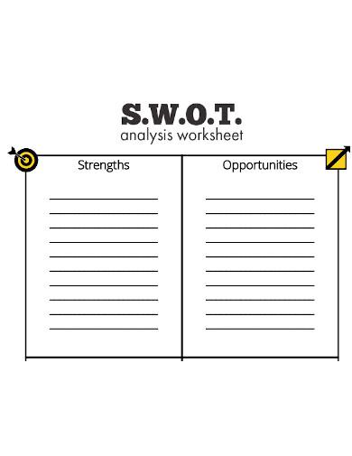 editable swot analysis worksheet