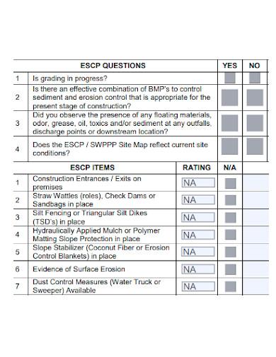 editable site inspection checklist