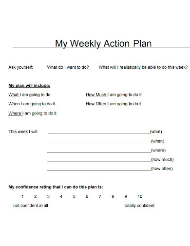 editable weekly action plan