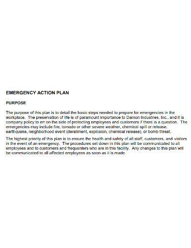 emergency warehouse action plan