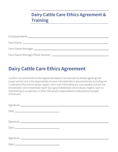 employee ethics training agreement