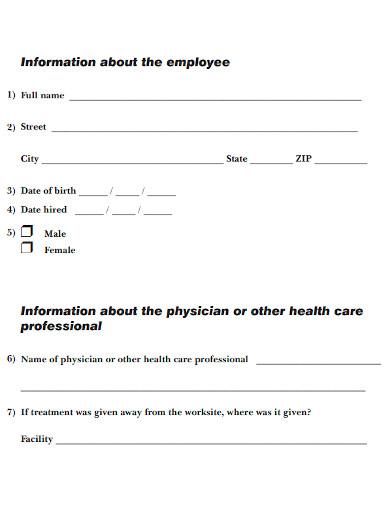 employee injury incident report