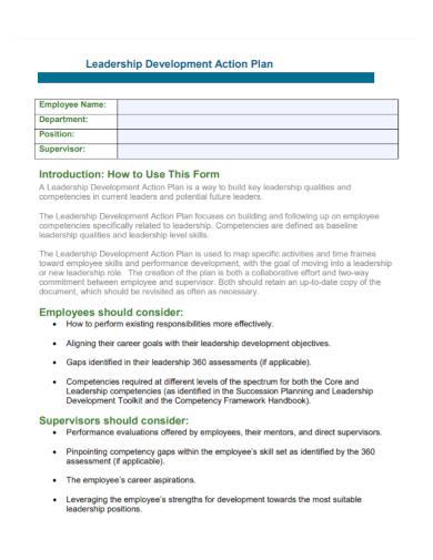 employee leadership development action plan