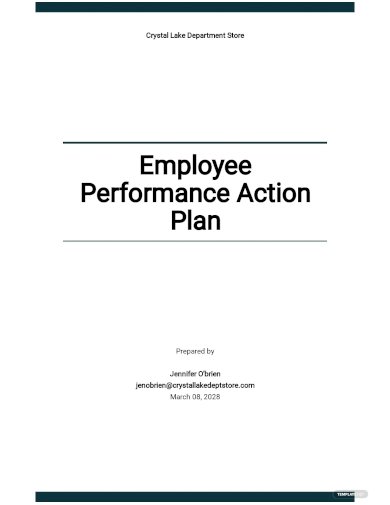employee performance action plan template