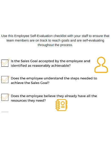employee self evaluation checklist