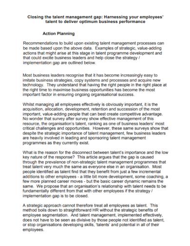 employee talent management action plan