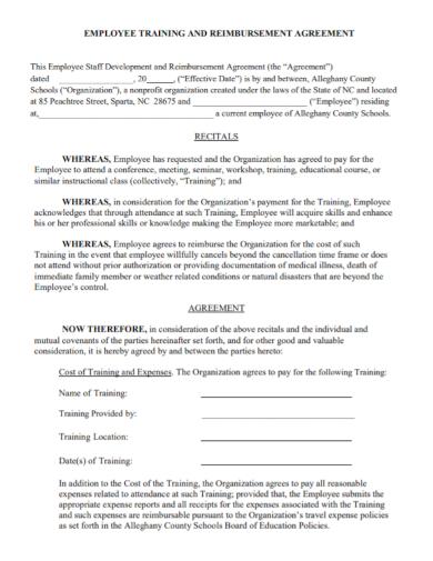 employee training reimbursement agreement1