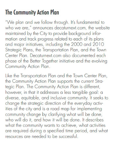 engagement community action plan
