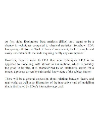 exploratory data analysis format