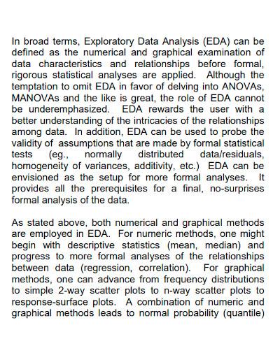 exploratory data analysis sample