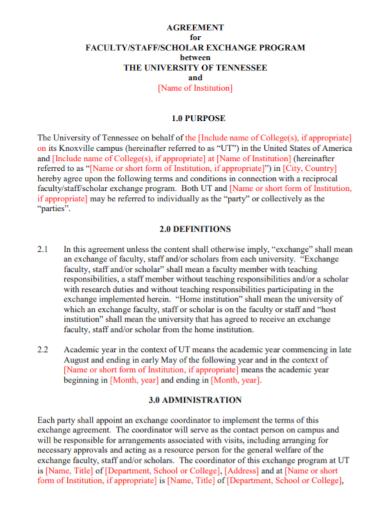 faculty scholar teaching program agreement