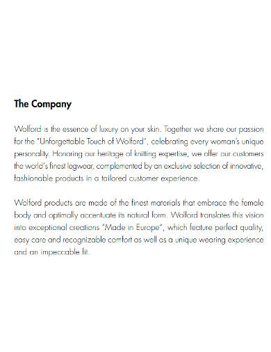 fashion boutique company profile