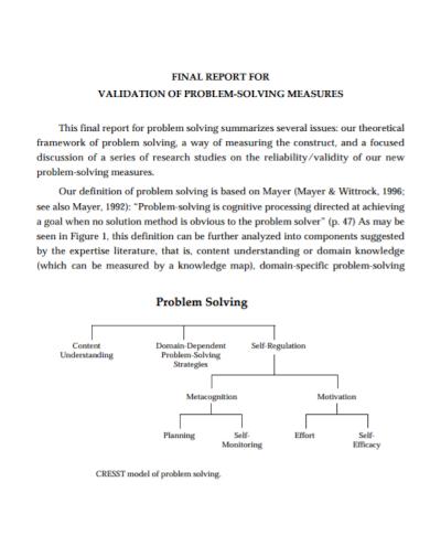 final validation problem solving report