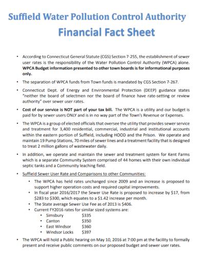 financial control authority fact sheet