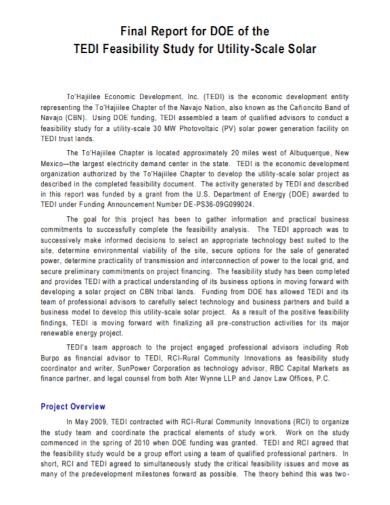 financial feasibility final report