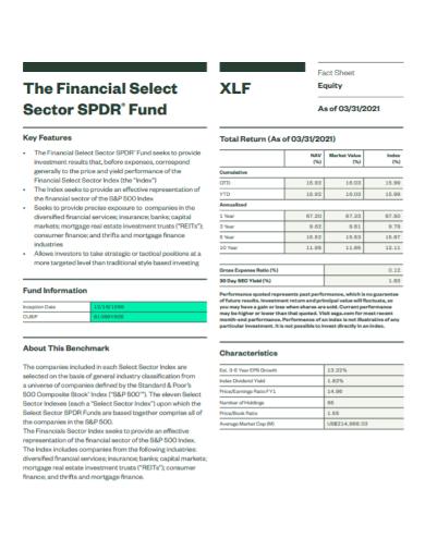 financial sector fact sheet