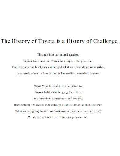 formal automotive company profile