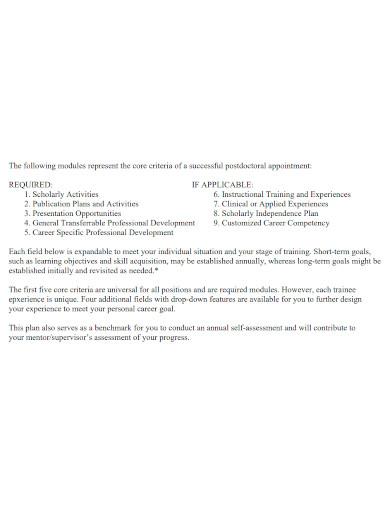 formal competency career development plan