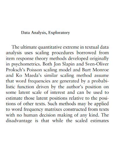 formal exploratory data analysis