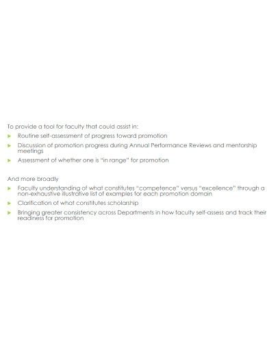 formal faculty self assessment