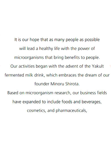 formal food company profile