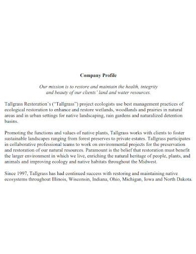 formal landscape company profile